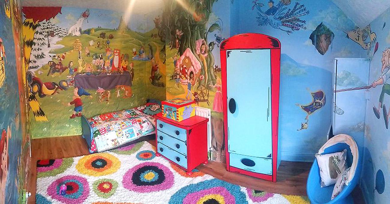 საბავშვო ოთახის ზღაპრული დიზაინი 14