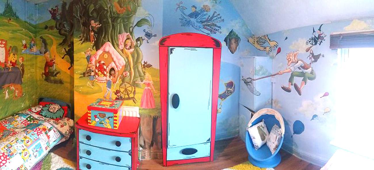 საბავშვო ოთახის ზღაპრული დიზაინი 1