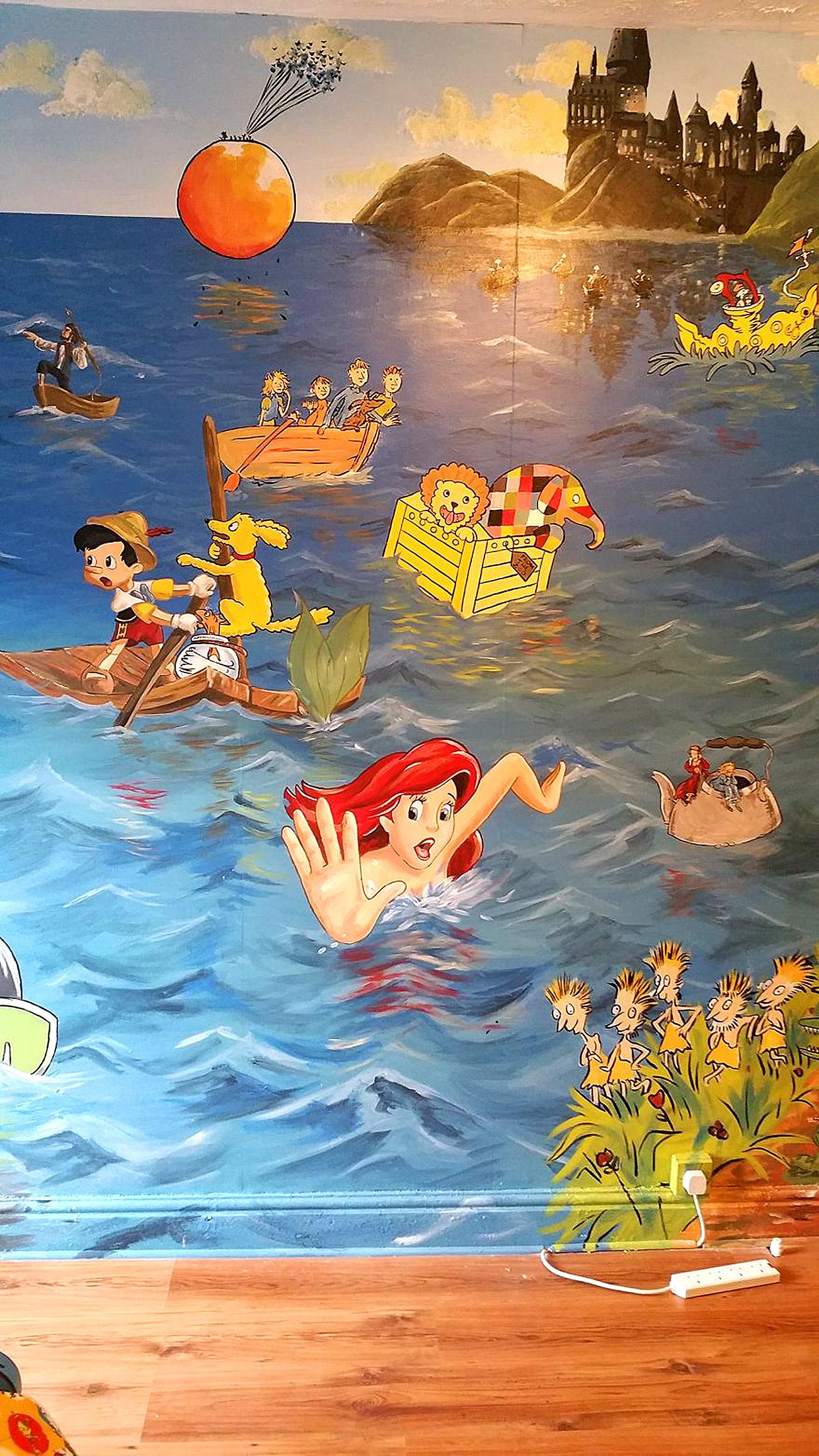 საბავშვო ოთახის ზღაპრული დიზაინი 7