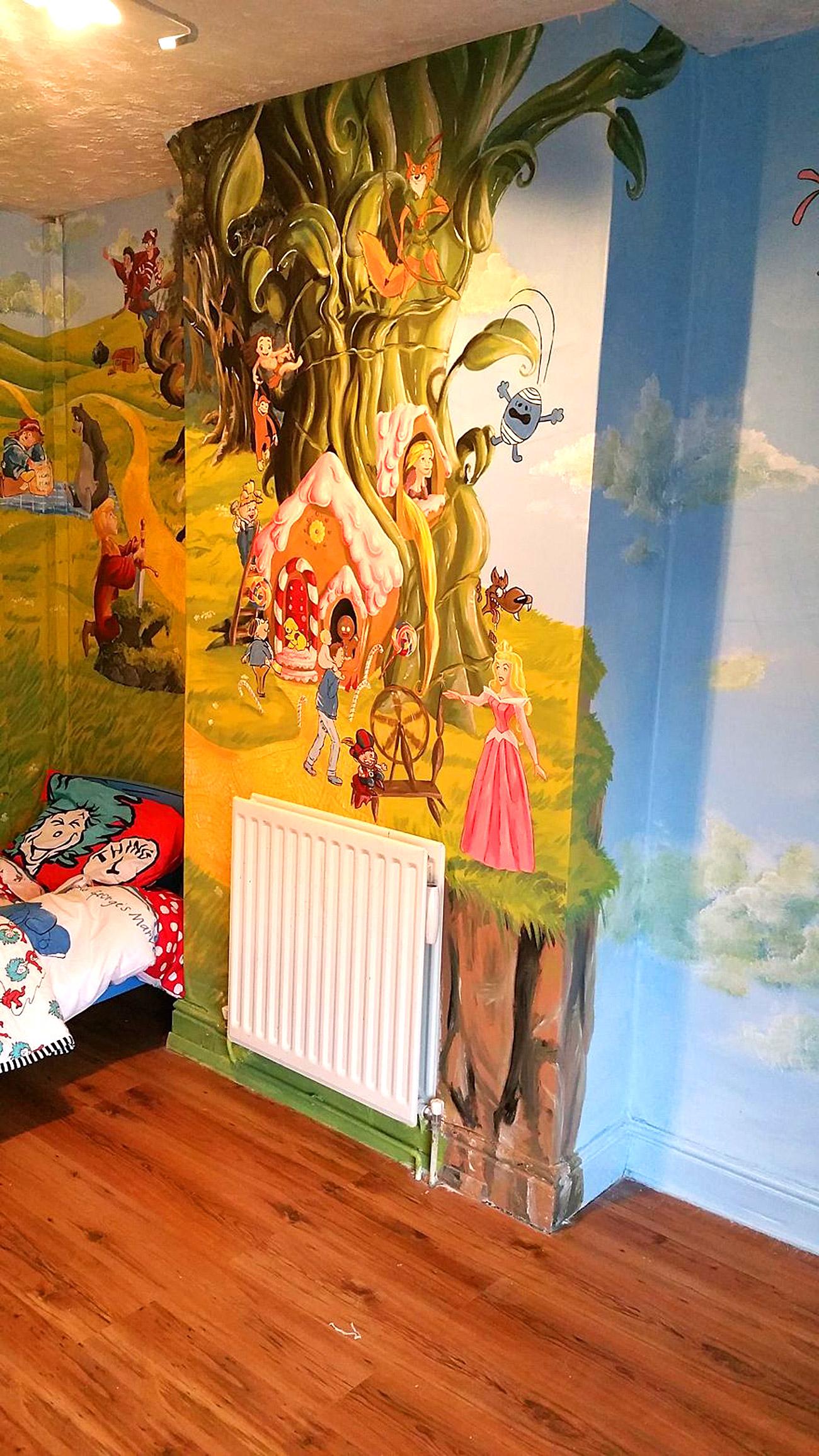 საბავშვო ოთახის ზღაპრული დიზაინი 8
