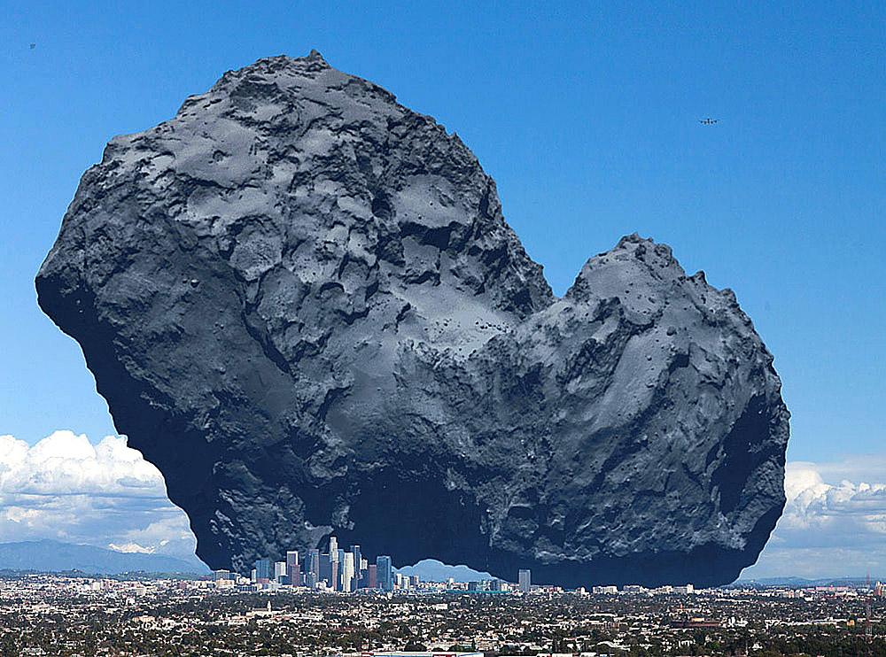 ჩურიუმოვ-გერასიმენკოს კომეტა ლოს-ანჯელესთან შედარებით
